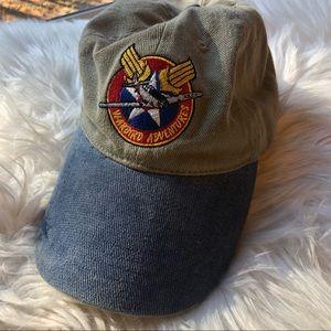 Other - Vintage warbird adventures denim hat flight pilot